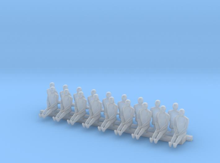 1/144 & 1/200 scale pilot figures 3d printed