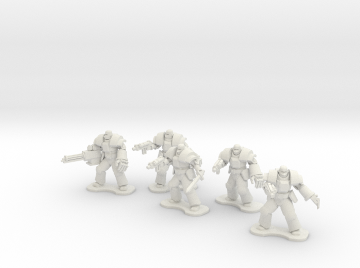 18mm Legionary Heavies (x5) 3d printed
