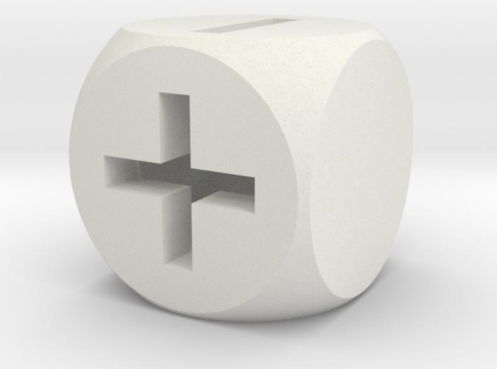 Basic Fudge Dice HOLLOW (x1) Fate dF 3d printed