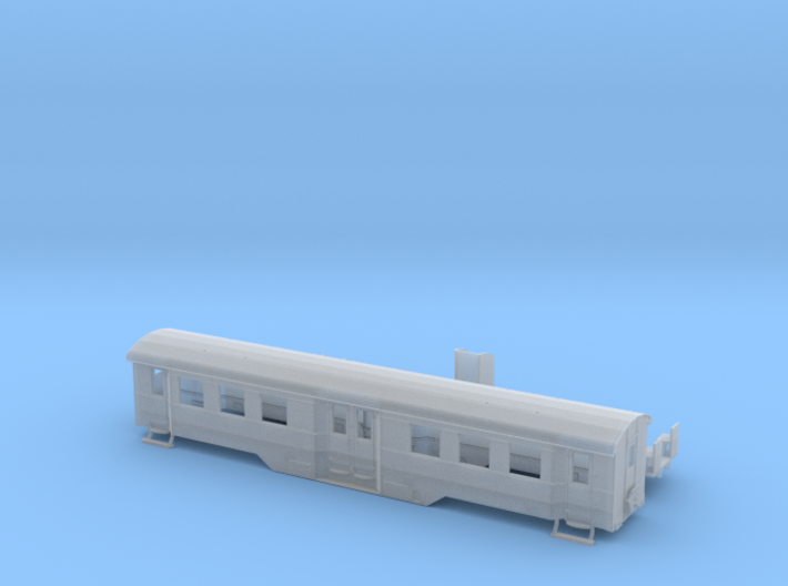 B4i der WLE in Spur TT (1:120) mit Toilette 3d printed