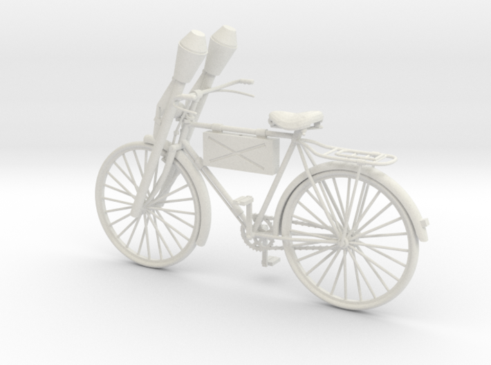 1:18 German WW2 Panzerfaust Bicycle 3d printed
