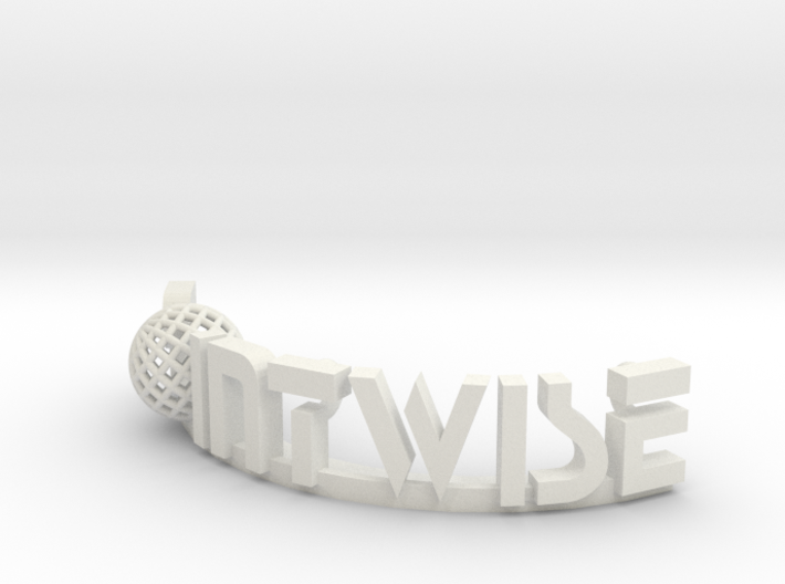 Pointwise text Logo 3d printed
