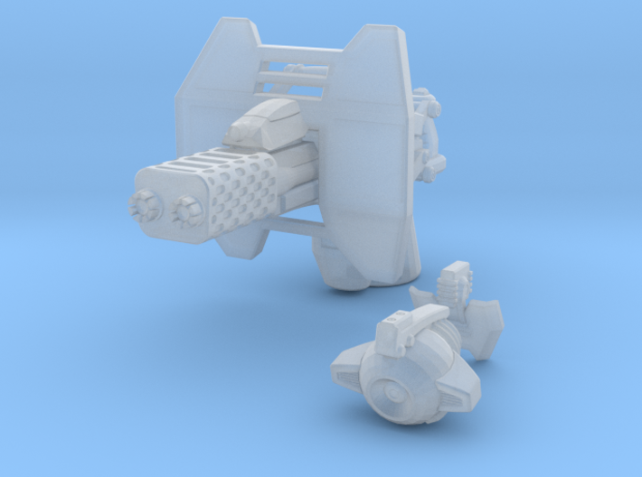advanced flame cannon 001a carried with firecontro 3d printed
