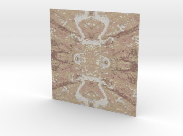 Mosaic Rainforest Brown 008 3d printed