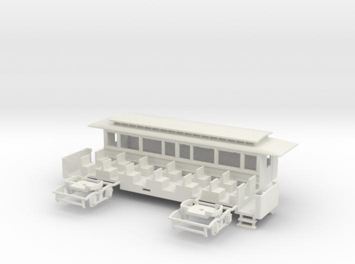 OEG Dampfbahnbeiwagen (längere Version) 3d printed
