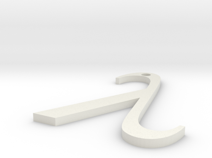 Lambda Pendant 3d printed
