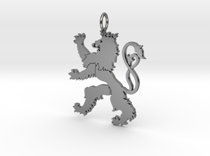 Roude Leiw Detailed pendant no frame 3d printed