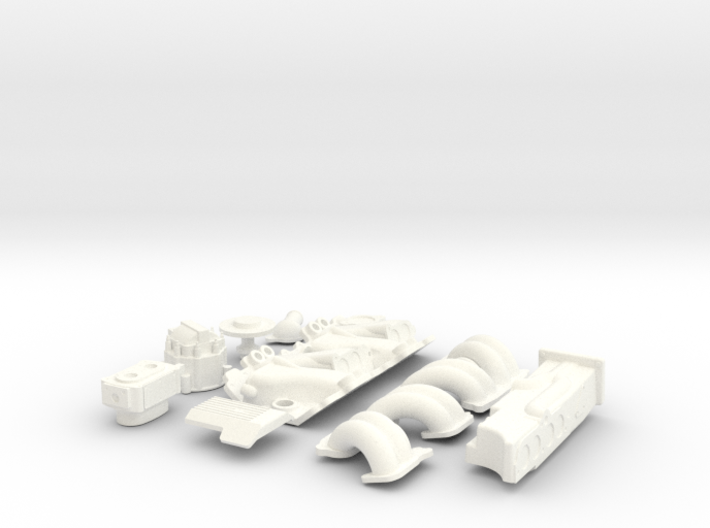 1/8 SBC TPI Intake System 3d printed