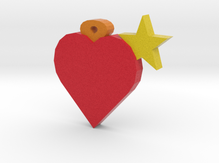 Simple heart + star 3d printed