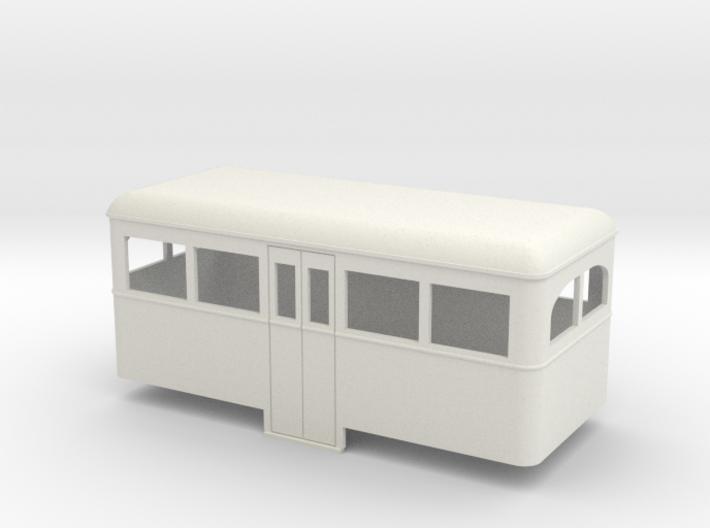 On16.5 Railbus Centre entrance trailer 3d printed
