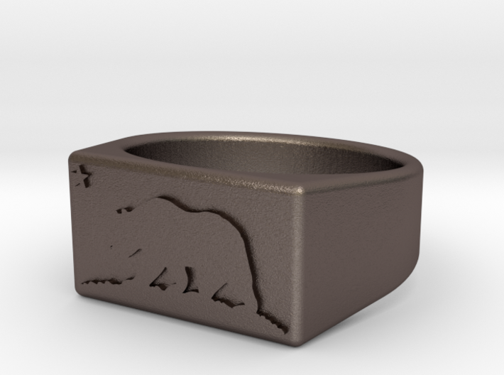 Ring of the bear flag republic size 11 3d printed