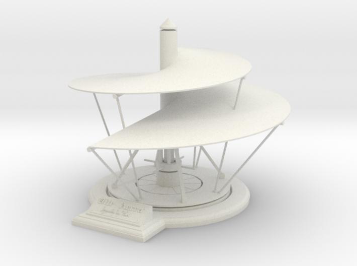 Leonardo da Vinci's Aerial Screw 3d printed