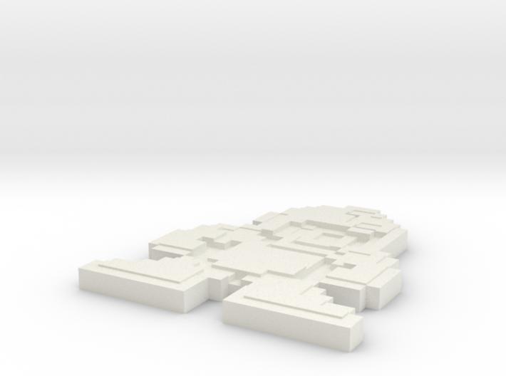 Megaman 8bit pin face 3d printed