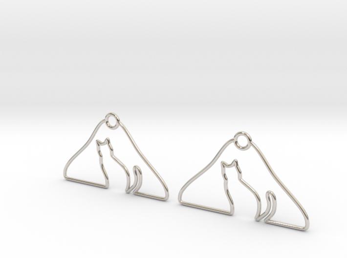 Cat Hanger Earrings 3d printed