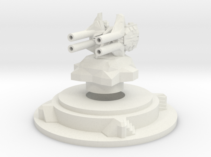 Miniature artillery turret medium 3d printed