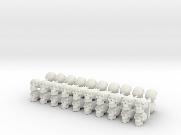 40 Skulls 3d printed