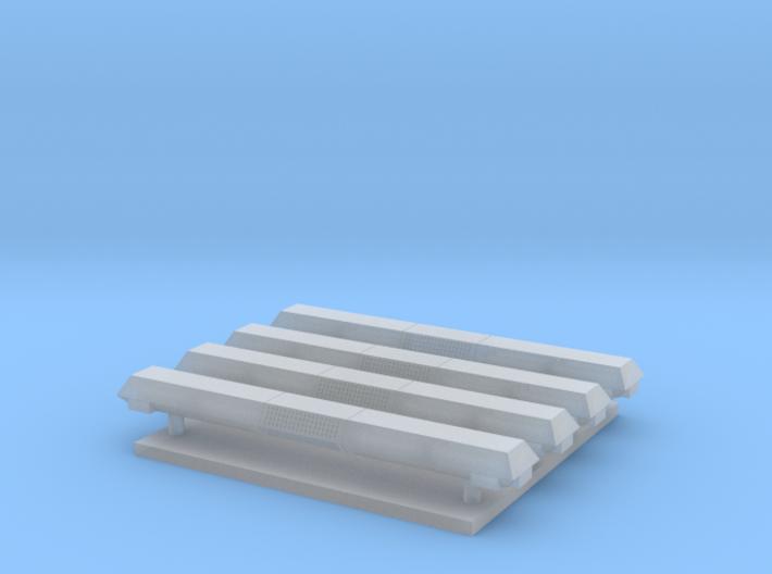 Lichtbak rechthoekig 4 stuks 24 mm met zijlichten 3d printed