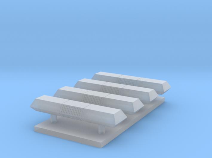 Lichtbalk rechthoekig 13,4 mm 4 stuks 3d printed