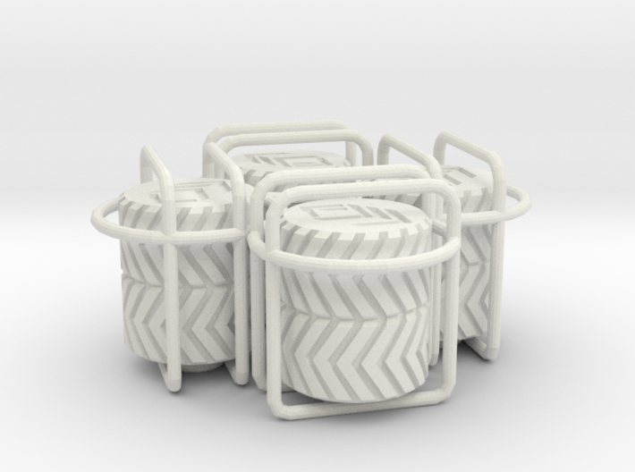 4x Double Tyre Tread tire valve cap 3d printed