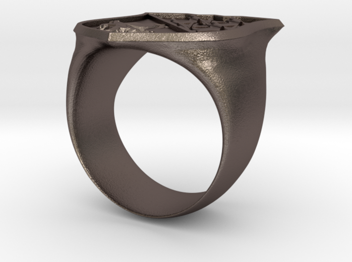 Blue Angels Shield Ring 3d printed