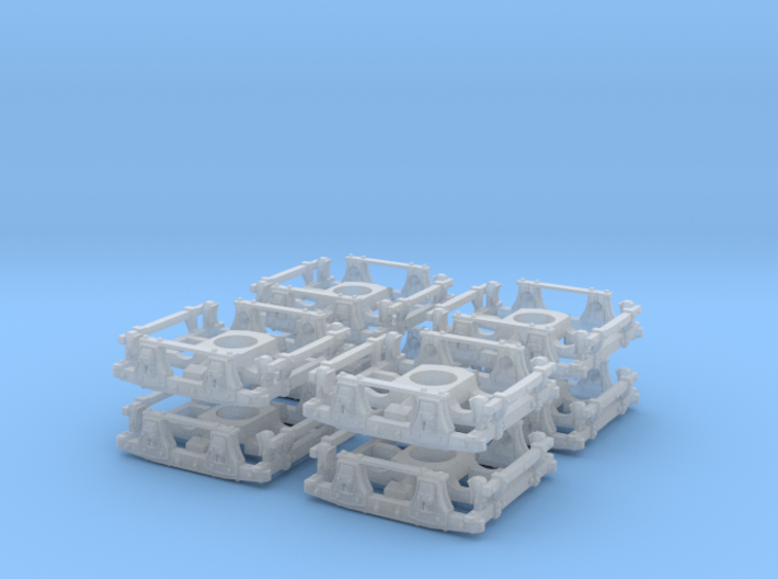 "T04bl x8 N wood trucks 48""wb to lower Bachmann OTs 3d printed"