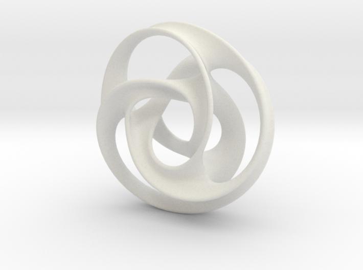 Tri Arm Torus medium 3d printed
