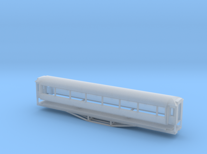 AO Carriage, New Zealand, (HO Scale, 1:87) 3d printed