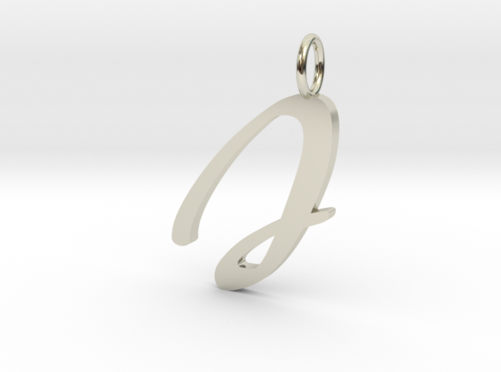 J classic script initial pendant letter ggbmdwfr7 by thepeoplesjeweler j classic script initial pendant letter 3d printed aloadofball Gallery