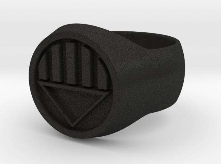 Black Lantern Ring Size W 3d printed