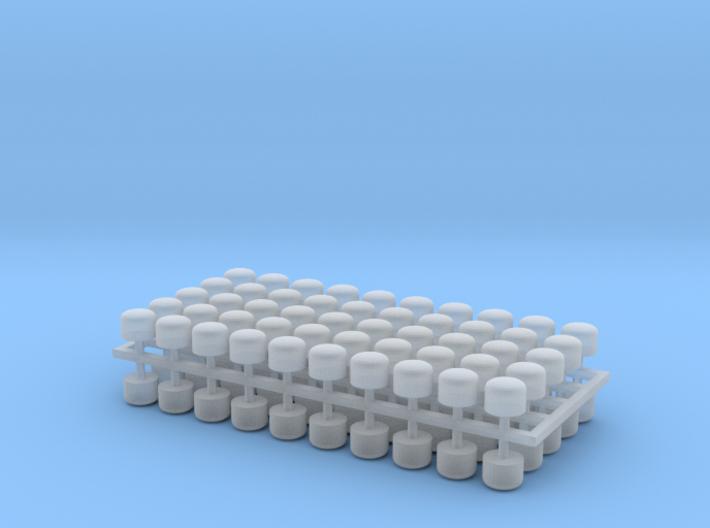 2mm Scale Vacuum Cylinders 3d printed