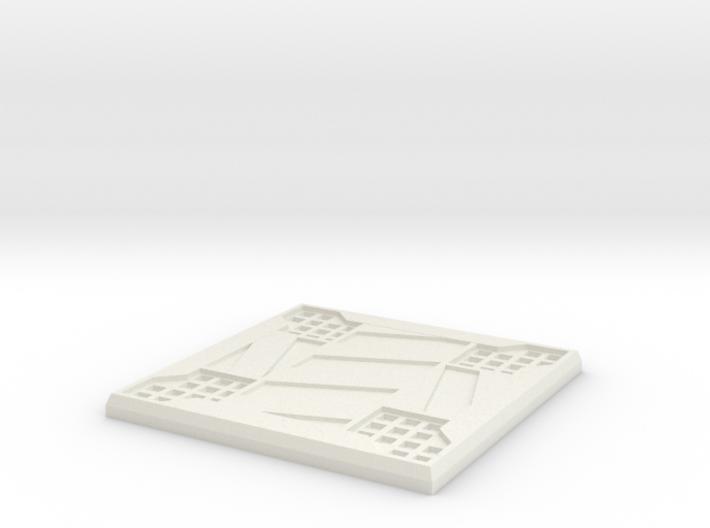 Sci-fi Mesh Floor Hazard X 3d printed