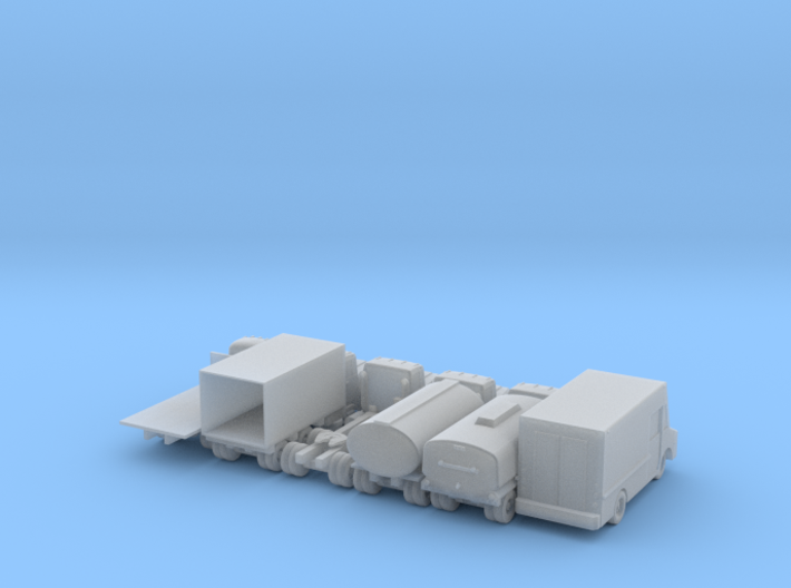 Misc Truck Set - 1:110 Scale 3d printed