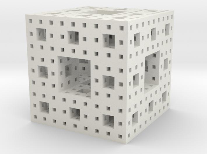 Menger Sponge, 5 cm, level 4 3d printed