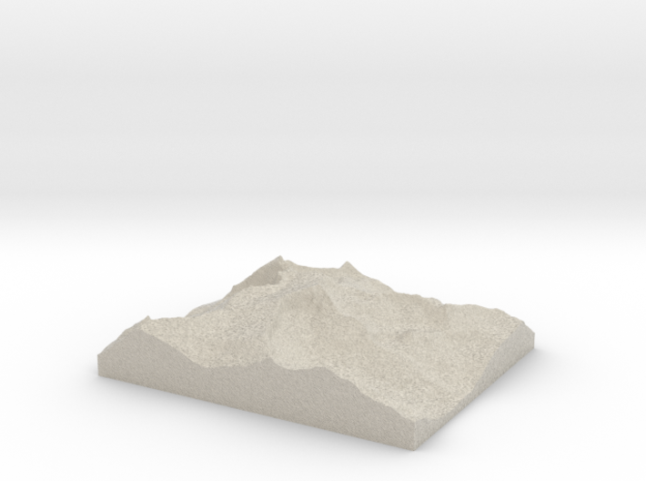 Model of Mount Conness 3d printed