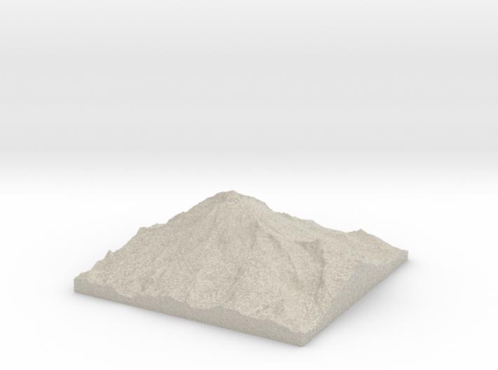 Model of Mount Rainier 3d printed