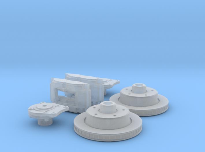 1/24 Rear Disk Brake Setup 3d printed