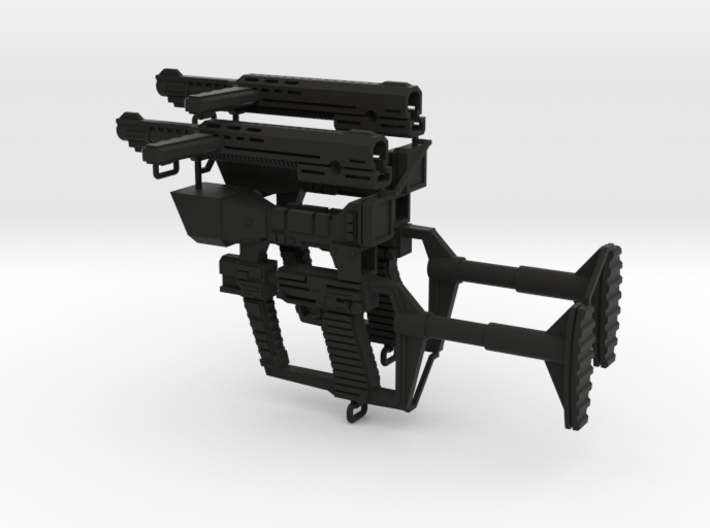 1:6 scale reptilian laser rifle 2 pieces 3d printed