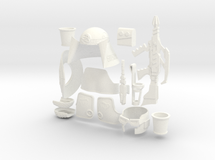Buck Rogers Draconian Guard Armor Mego Scale 3d printed