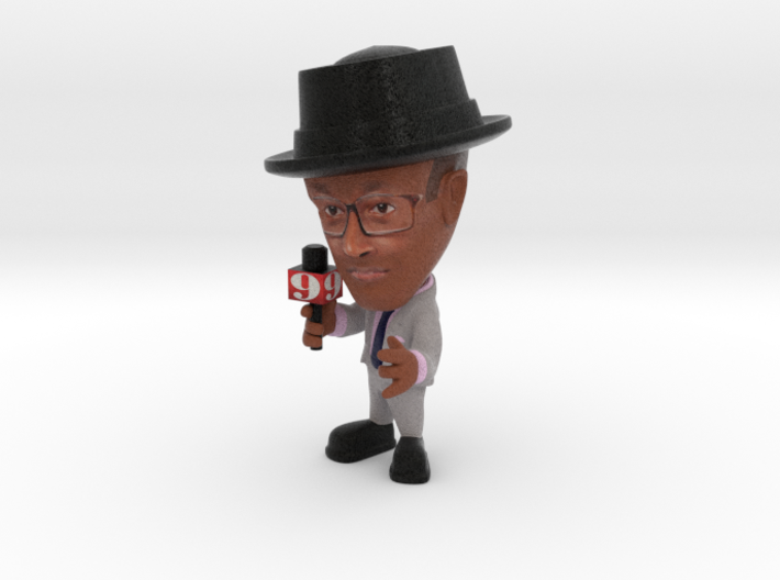 Mario ch 9 orlando news reporter with hat 3d printed