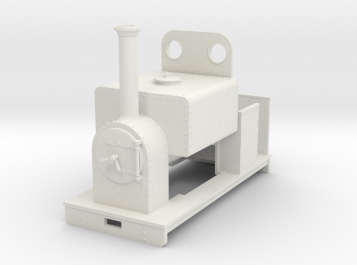 Gn15 loco square saddle tank with weatherboard 3d printed