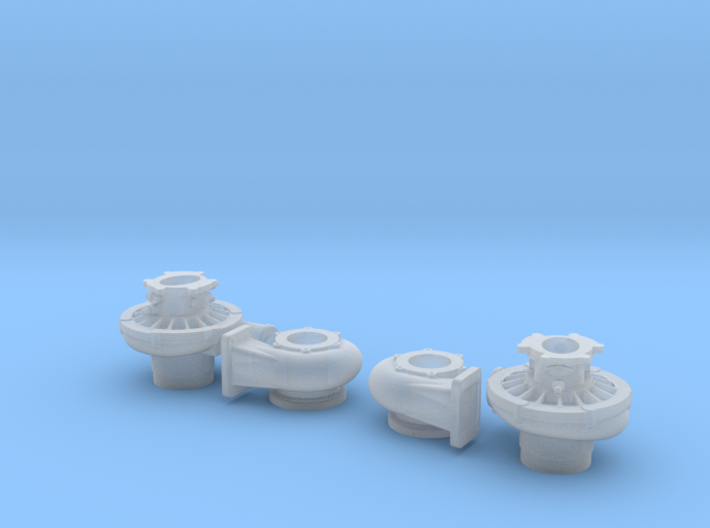 1/24 scale 2 1/2 Inch Right And Left Turbo 3d printed