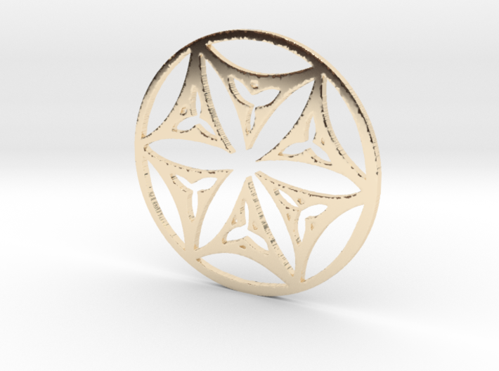 Medieval Tile Design 14thCentury Seed of Life 3d printed