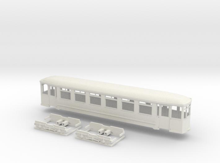 Gehäuse Vierachser Beiwagen Flensburg 3d printed