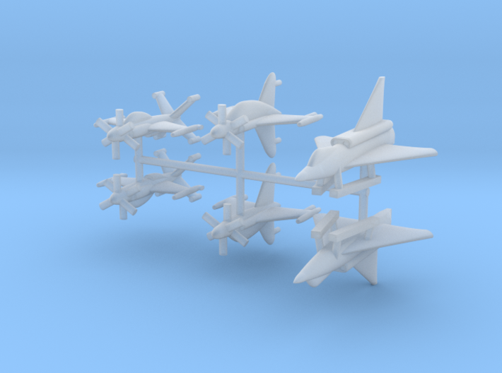 1/600 Experimental Aircraft Set 4 3d printed