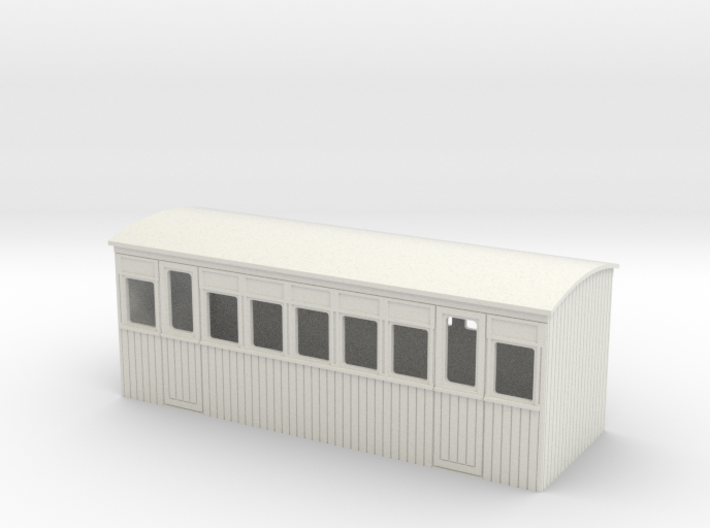 009 4w 3rd class colonial saloon coach 3d printed