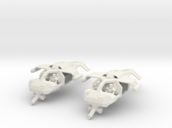 15mm Legionary Gun-Speeders (x2) 3d printed