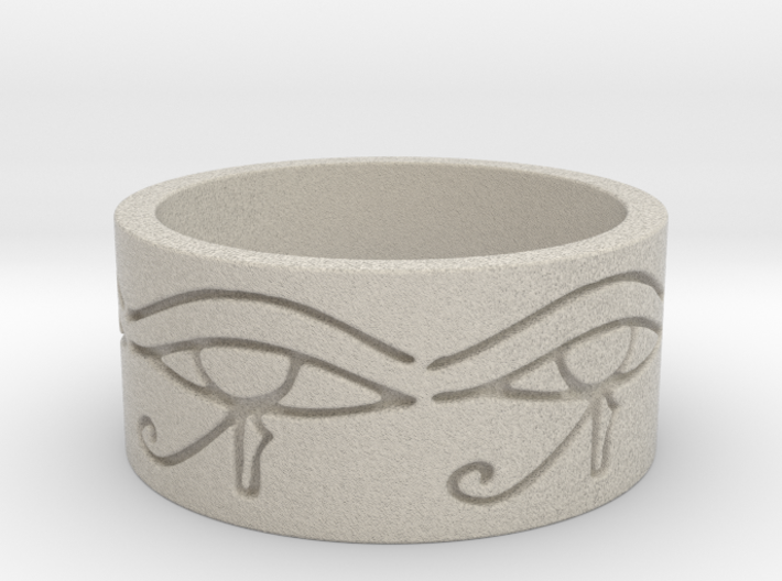 Egyptian Eye Of Horus Ring Size 7 3d printed