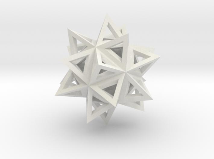 ikosaeder mit tetraedern (kante) 3d printed