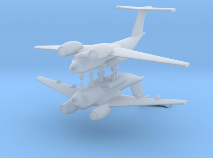 1/600 Antonov AN-72 Coaler (x2) 3d printed