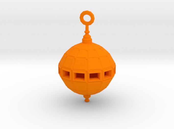 Grenade Bomb Pendant synthetic 3d printed